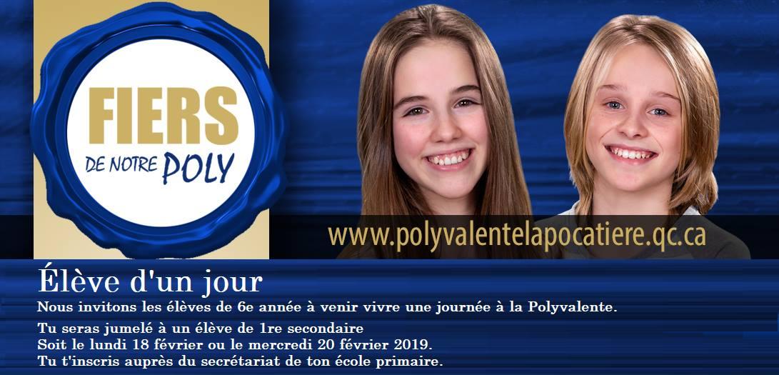 EPLP Élève d'un jour École polyvalente La Pocatière Commission scolaire de Kamouraska-Rivière-du-Loup KRTB BSL Bas-Saint-Laurent Côte-du-sud