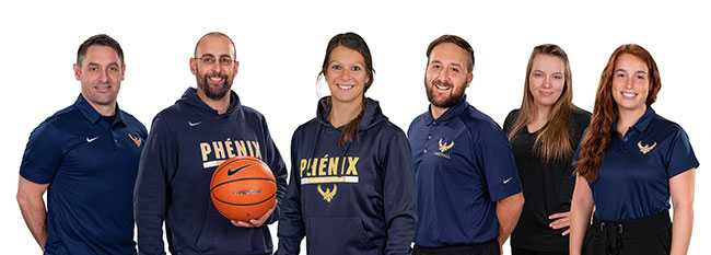 Photo de l'Équipe d'entraineurs des Phénix, École polyvalente La Pocatière EPLP